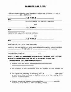 partnership deed form edrafter