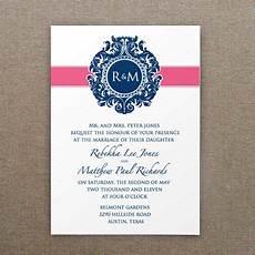 invitation templates monogram shield with ribbon detail wedding invitation templates