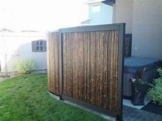 Sichtschutz Terrasse Bambus - tub privacy screen made of bamboo outdoor flowers