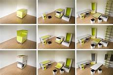 room in a box room in a box transforming fold out furniture design