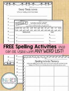 spelling worksheets grade 11 22674 free spelling activities that can be used with any list of words u activities