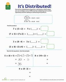 properties of multiplication distributive properties of multiplication distributive property