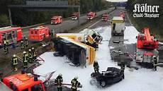 Unfall A 4 - schwerer lkw unfall auf der a4 bei k 246 ln tanklastwagen
