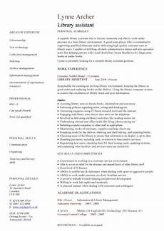 library assistant cv sle