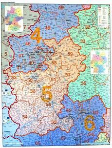 plz karte nrw landkarte plz bundesland rheinland westfalen karte ebay