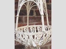 Pair of Cream Metal Hanging Baskets