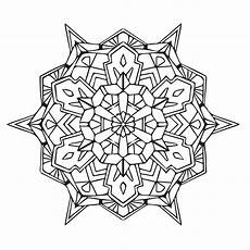 Coloring Geometric Pages Geometric Mandala Coloring Page Babadoodle