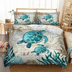 bay turtle marine sea bedding duvet cover octopus dolphin whale bedding single full