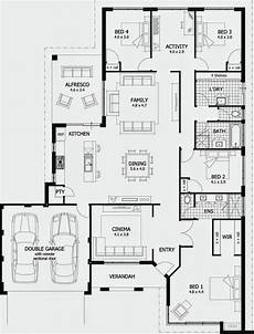 4 bedroom double storey house plans this 4 bedroom single storey house plan is just unique