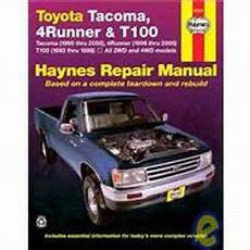 online auto repair manual 1996 toyota tacoma windshield wipe control 1993 2004 toyota tacoma 96 02 4runner 93 98 t100 haynes repair manual