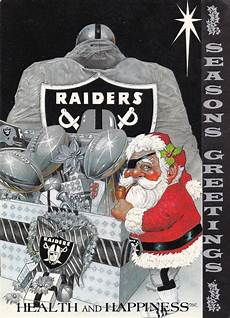 1985 los angeles raiders christmas card raiders baby oakland raiders nation