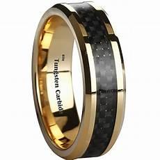 new 6mm inlay tungsten mens wedding ring size 5 ebay men s black carbon fiber inlay gold tone tungsten wedding ring 6mm