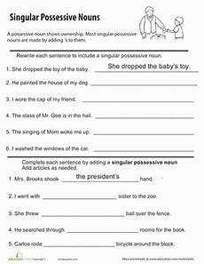 possessive nouns worksheet education com