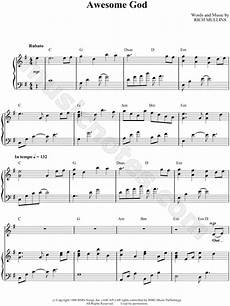 michael w smith quot awesome god quot sheet music in g major