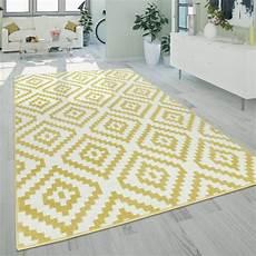 teppich gelb grau kurzflor teppich ethno muster gelb wei 223 mirai trading gmbh