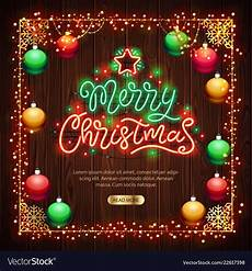 merry christmas light vector merry christmas neon sign with colorful lights vector image