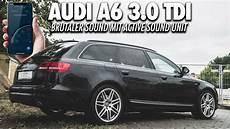 brutaler sound dank soundgenerator audi a6 3 0 tdi