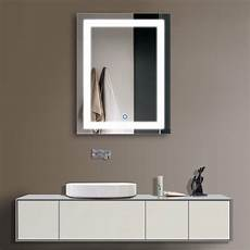 decoraport vertical led illuminated lighted bathroom wall mirror w touch button ebay