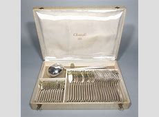 Vintage French Christofle Silver Plated Flatware Set