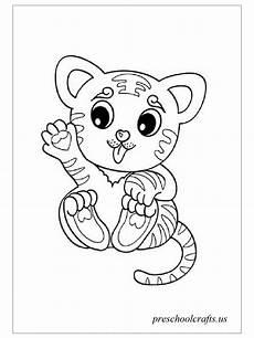 Malvorlagen Tiger Motor Baby Tiger Coloring Pages Preschool Crafts