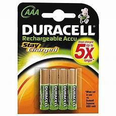 duracell staycharged aufladbare aaa batterien 800mah
