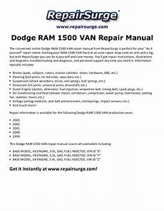 manual repair free 1995 dodge ram van 2500 engine control dodge ram 1500 van repair manual 1999 2003
