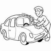 Polishing Car Coloring Page