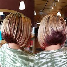 two tone bob hairstyles two toned bob haircuts with bangs in 2018