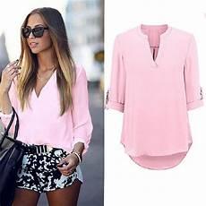 fashion summer top 3 4 length sleeve
