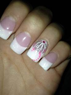 my nails love em white glitter tips with ring finger