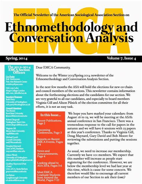 Ethnomethodology And Conversation Analysis