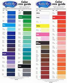 Bore Gel Mixing Chart Frosting Color Mixing Chart Satin Ice Fondant Color