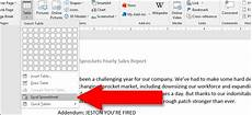how to use excel style spreadsheets in microsoft word