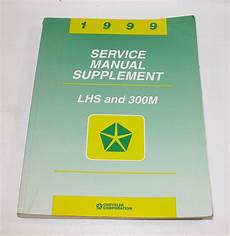 service repair manual free download 1999 chrysler lhs auto manual 1999 chrysler lhs 300m service manual supplement good used condition ebay