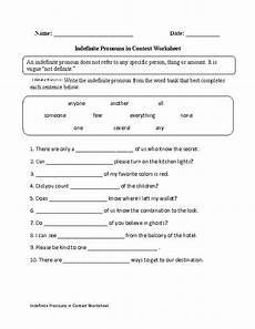 indefinite pronouns in context worksheet englishlinx com