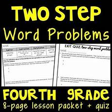 multistep word problems 4th grade lesson packet multi