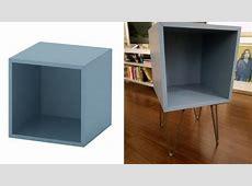 Turn the EKET cube into a Hairpin Leg Nightstand   IKEA