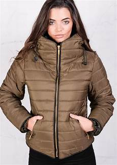 puffer coats winter on sale lightweight quilted puffer padded jacket coat khaki