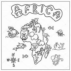 Ausmalbilder Tiere Afrika Pictures Africa Map Coloring Africa Continent Map
