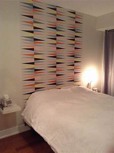 papierpeint9 t 234 te de lit en papier peint