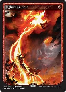 magicfest promo 2019 lightning bolt pauper