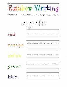 handwriting worksheets 21275 dolch list rainbow writing 1st grade words rainbow writing sight word spelling writing words