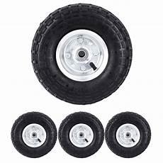 4x 10 pneu pneumatique roue pour chariot roulant brouette