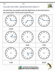 time worksheets grade 3 printable 3448 clock worksheet quarter past and quarter to