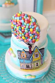 Fondant Torte Kindergeburtstag - up themed cake a billion tiny made fondant balloons