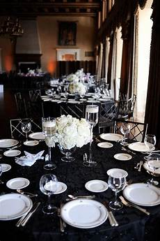 black and silver wedding reception classic black and white wedding reception white wedding