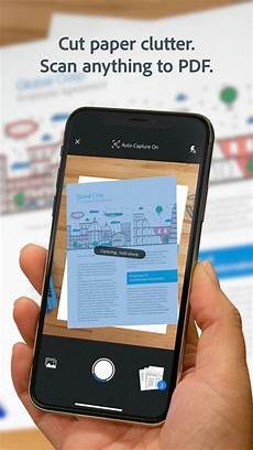 adobe scan pdf scanner documents receipts pour iphone t 233 l 233 charger