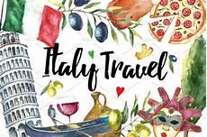 italia clipart watercolor set of italy illustrations creative market