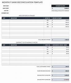 free account reconciliation templates smartsheet