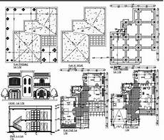 dwg house plans house plan in dwg file cadbull